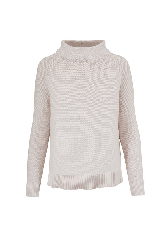 Kinross Champagne Cotton Chunky Knit Sweater