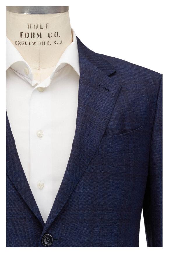 Ermenegildo Zegna Navy Blue Wool & Silk Sportcoat