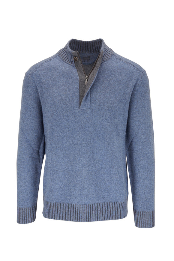 Raffi  Light Blue Quarter-Zip Pullover