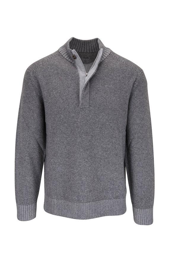 Raffi  Light Gray Quarter-Zip Pullover