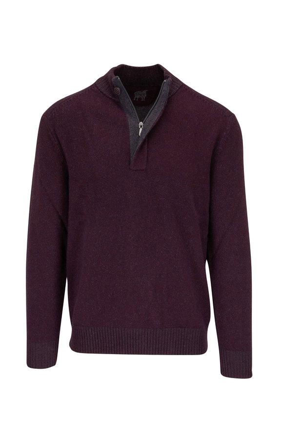 Raffi  Dark Purple Quarter-Zip Pullover