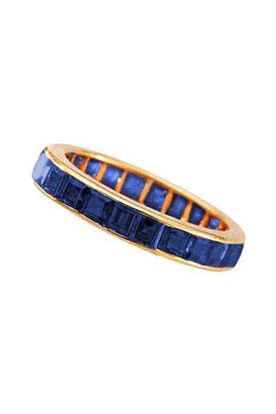 Oscar Heyman - 18K Yellow Gold Sapphire Ring
