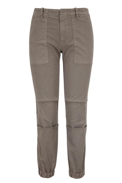 Nili Lotan - Gray Cropped French Military Pant