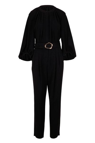 Lafayette 148 New York - Ellis Black Belted Jumpsuit