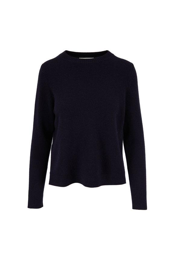 Chinti & Parker The Boxy Navy Blue Cashmere Crewneck Sweater