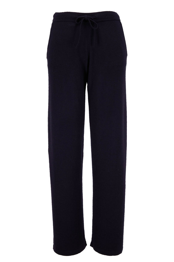 Chinti & Parker Navy Essential Cashmere High-Rise Lounge Pant