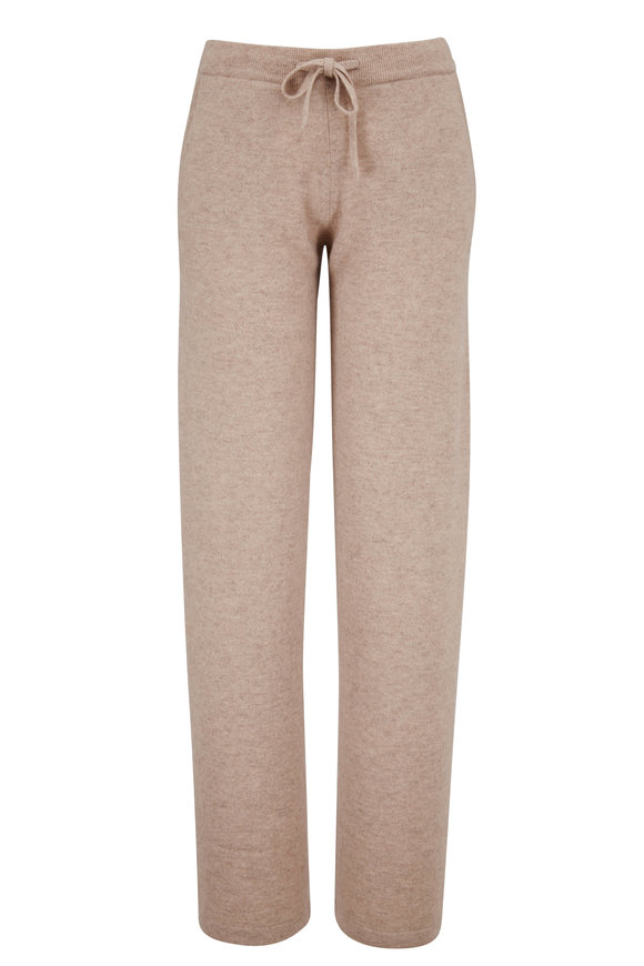 Chinti & Parker Essential Oat Cashmere High-Rise Lounge Pant
