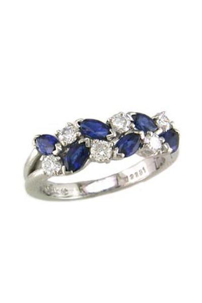 Oscar Heyman - Blue Sapphire & Diamond Ring