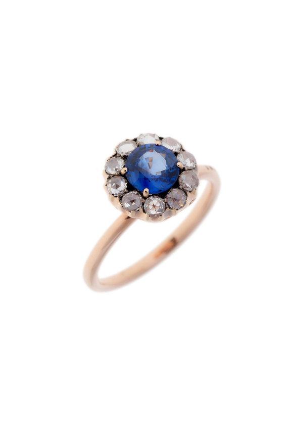Selim Mouzannar 18K Rose Gold Diamond & Tanzanite Ring
