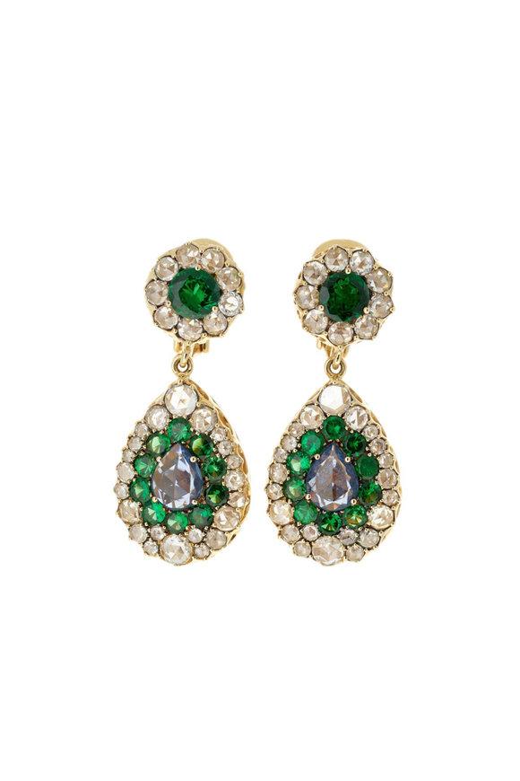 Selim Mouzannar 18K Rose Gold Diamond & Sapphire Earrings