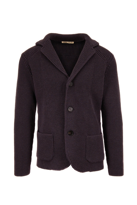 Maurizio Baldassari Brenta Gray Knit Jacket
