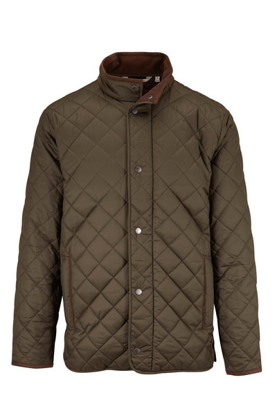 Peter Millar - Suffolk Olive Quilted Coat