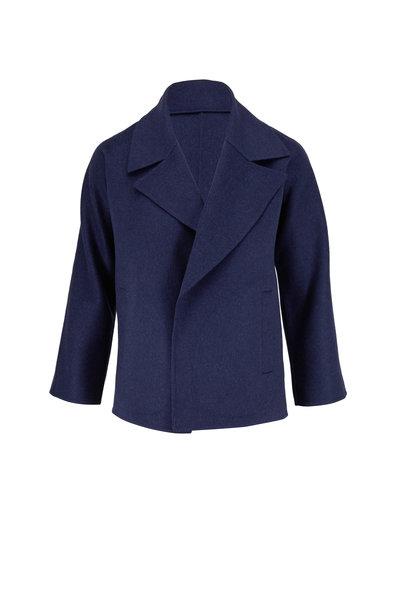 Kinross - Dusk Cashmere & Wool Notch Collar Jacket