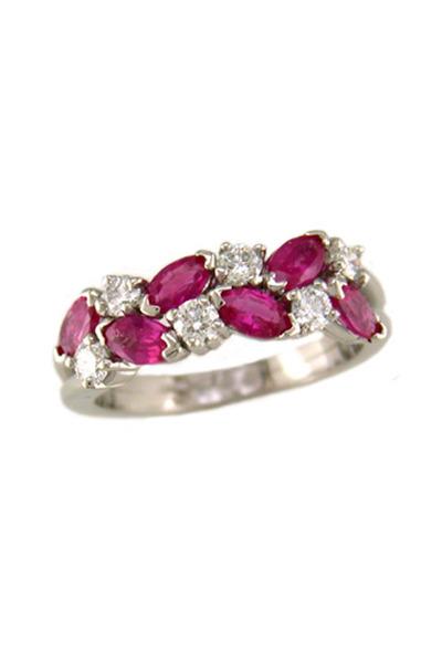 Oscar Heyman - Pink Sapphire Diamond Ring