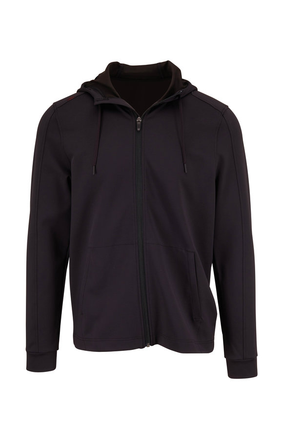 Rhone Apparel Spar Black Full Zip Hoodie