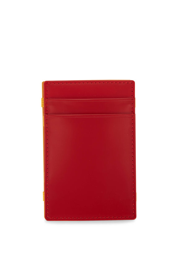 Ettinger Leather Red & Yellow Leather Magic Wallet