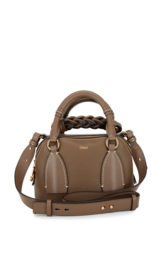 Chloé Daria Day Brown Textured Leather Small Bag