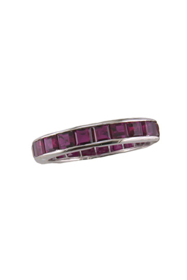 Platinum Ruby Guard Ring
