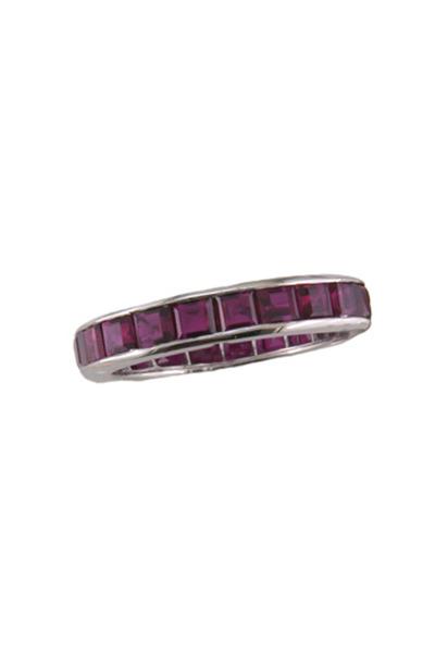 Oscar Heyman - Platinum Ruby Guard Ring