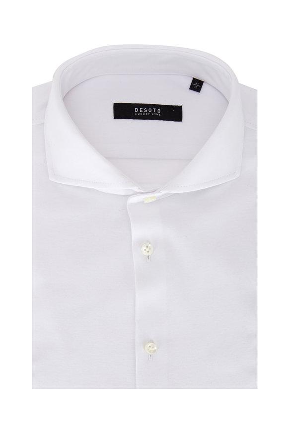 Desoto White Cotton Jersey Sport Shirt