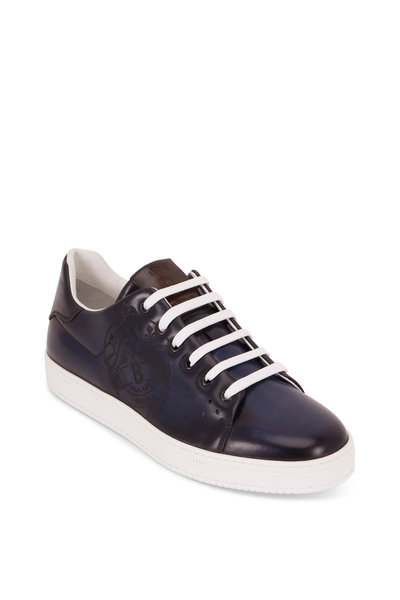 Berluti - Playtime Stamp Deep Rothko Leather Sneaker