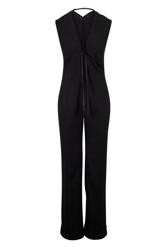 Victoria Beckham Black Wool Tuxedo Jumpsuit