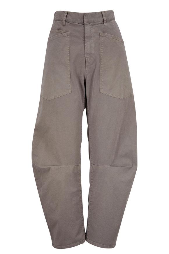 Nili Lotan Shon Cement Curved Pant