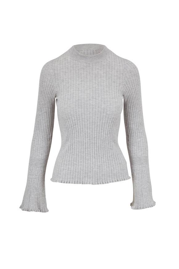 PAIGE Iona Chromium Lettuce Trim Sweater