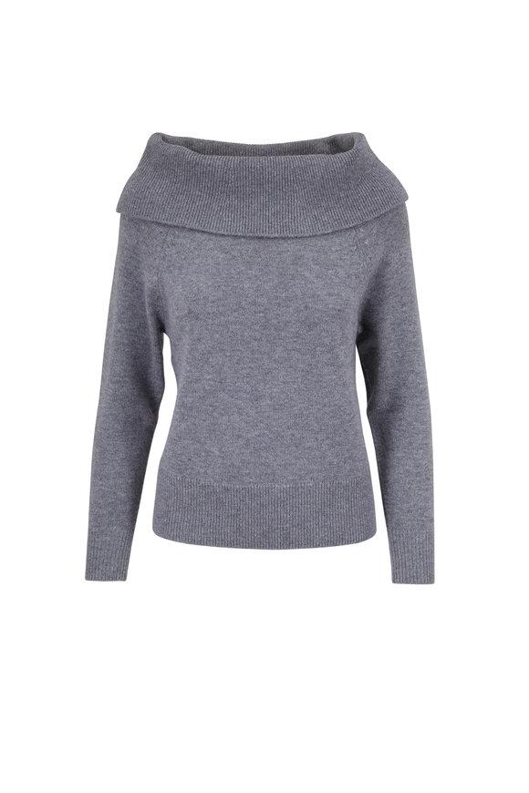 PAIGE Izabella Heather Gray Sweater