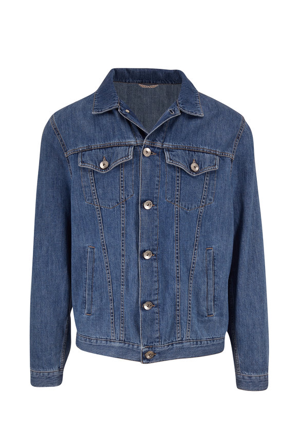 Brunello Cucinelli Blue Denim Jacket