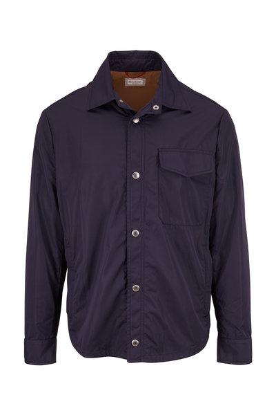 Brunello Cucinelli - Navy Nylon Shirt Jacket