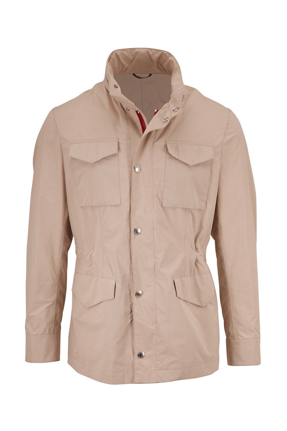 Brunello Cucinelli Tan Nylon Safari Jacket
