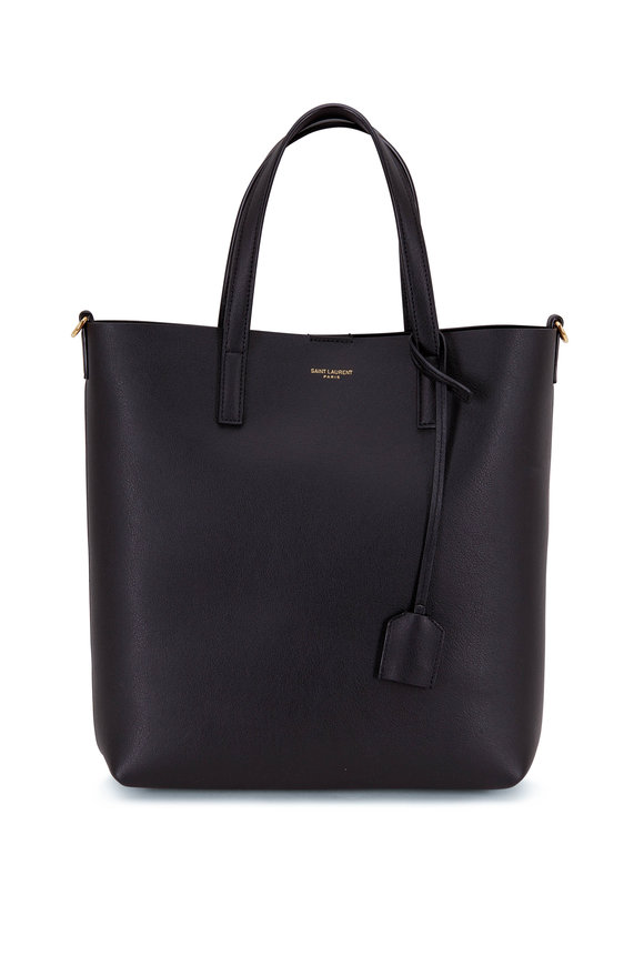 Saint Laurent Toy Black Leather Shopping Tote