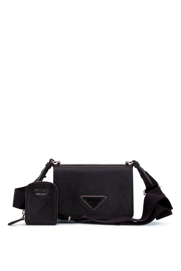 Prada Black Saffiano Leather Small Crossbody