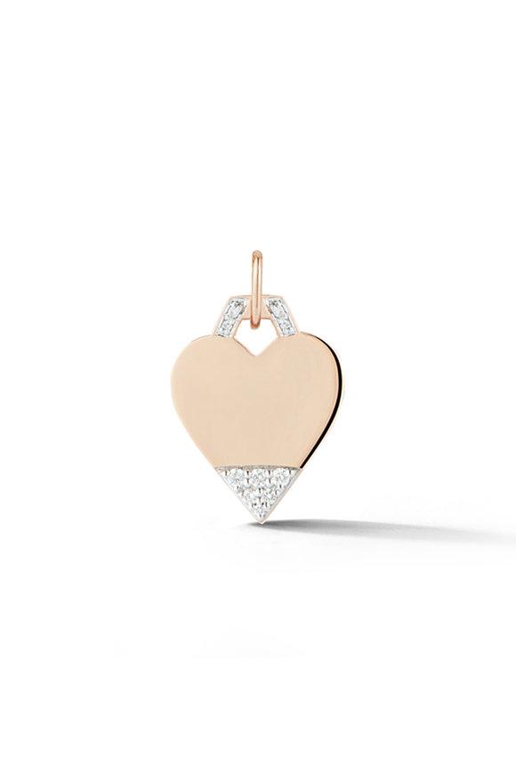 Walters Faith 18K Rose Gold Dora Diamond Mini Heart Charm