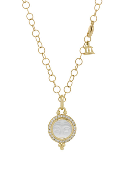 Temple St. Clair - Crystal Moonface Diamond Gold Pendant