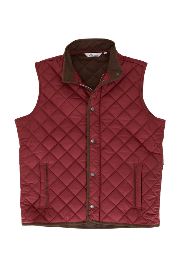 Peter Millar Essex Red Quilted Nylon Vest