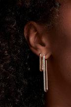 Walters Faith - 18K Rose Gold Saxon XL Single Link Earrings