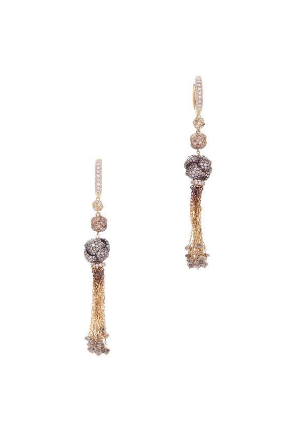 Mariani 18K Yellow Gold Tassel Earrings