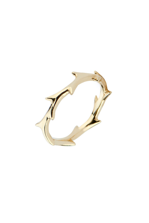 Dru 14K Yellow Gold Crown Of Thorns Ring