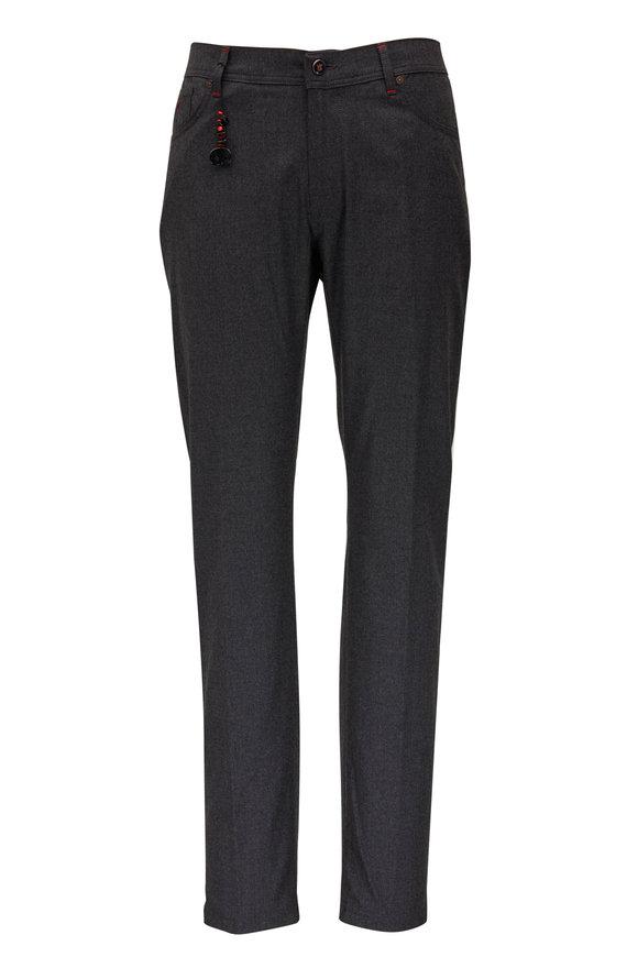 Marco Pescarolo Charcoal Gray Stretch Cashmere Five Pocket Pant