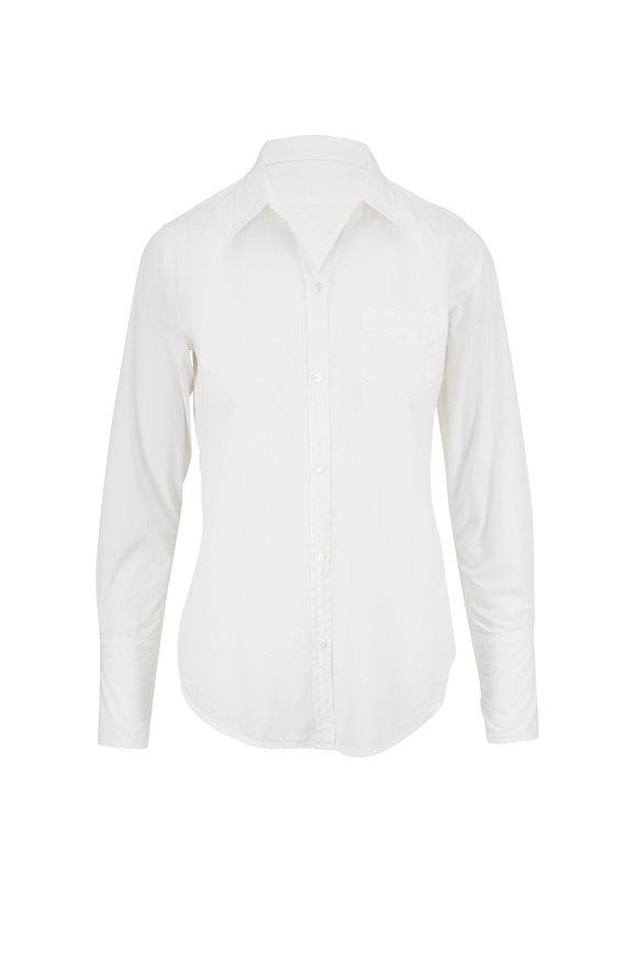 Nili Lotan NL White Cotton Button Down Shirt
