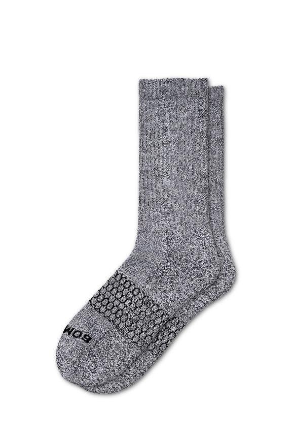 Bombas Classic Marls Light Charcoal Calf Socks
