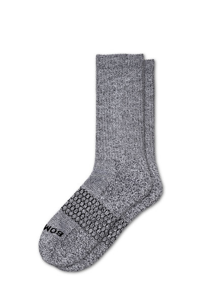 Bombas - Classic Marls Light Charcoal Calf Socks