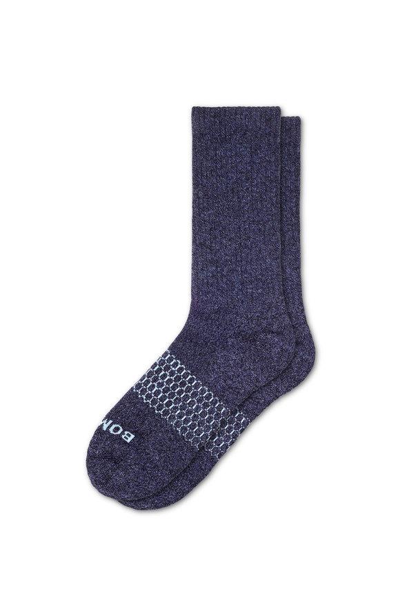 Bombas Classic Marls Navy Calf Socks