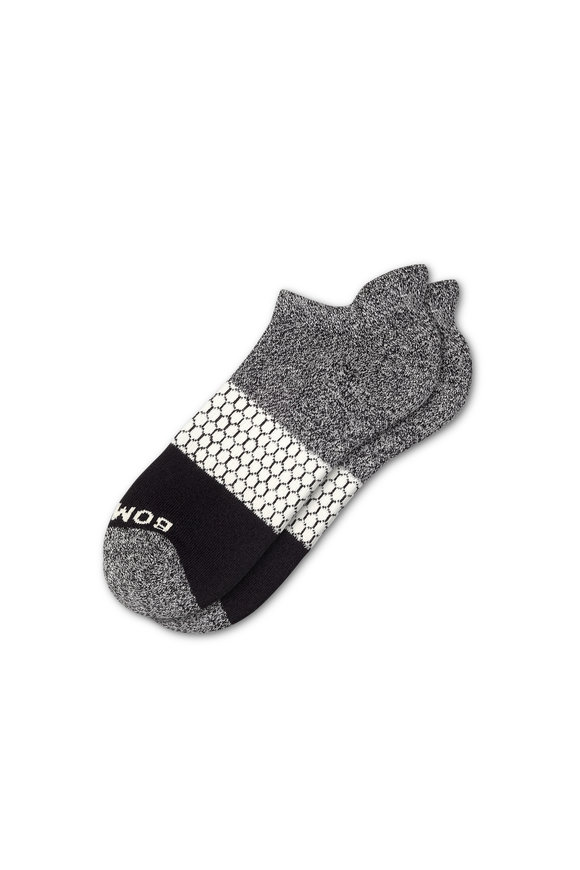 Bombas Men's Tri Block Triple Gray Ankle Socks