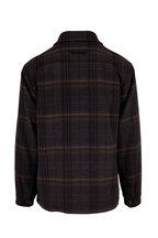 Vince - Black Plaid Sherpa Utility Jacket