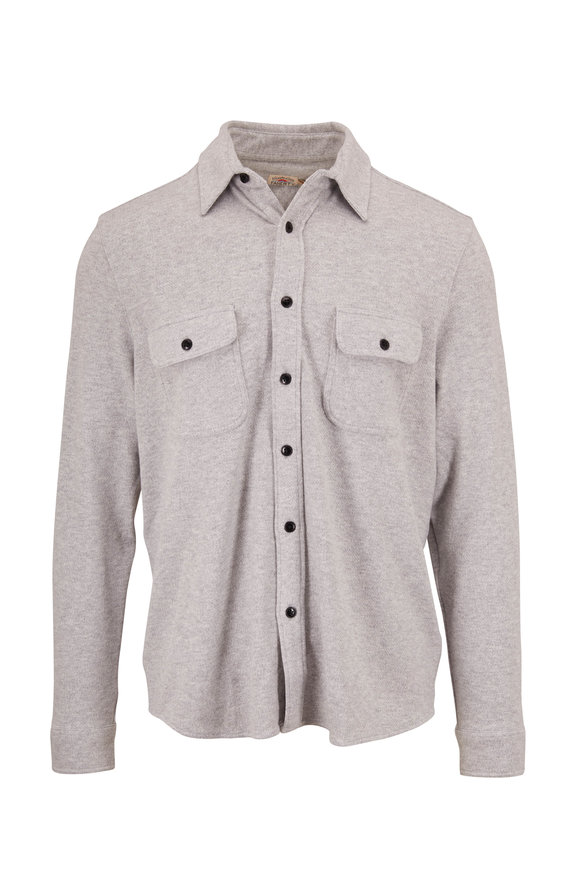 Faherty Brand Legend Light Grey Sweater Shirt