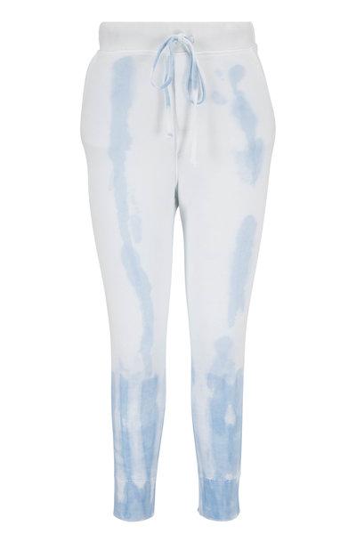 Nili Lotan - Nolan Sky Blue Tie-Dye Sweatpant