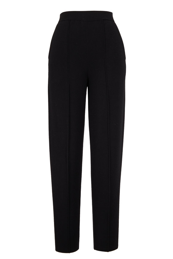 Lafayette 148 New York Black Double Knit Tapered Pant